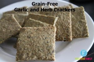 Garlic and Herb Grain-Free Crackers